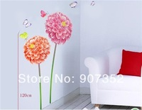 Chrysanthemum Art Decals Home Decoration DIY Wallpaper Sticker,free shipping