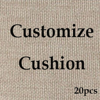 Customize Vintage Natural Linen Cushion Cover  Custom Made Cotton Car Sofa throw Pillow case Free Shipping 20pcs lot Wholesale