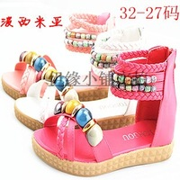 2013 female child sandals colorful bohemia big boy sandals cow muscle shoes outsole girl open toe