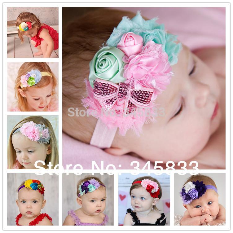 new 2014 newborn infant baby flower headband children toddler hair bows girl hairband baby kids hair wear Kids accessories(China (Mainland))