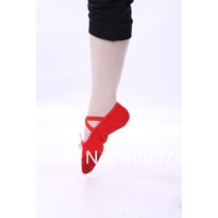 15 pcs/lot wholesale High quality SANSHA soft ballet practice dance shoes , colour red pink and red,free shipping