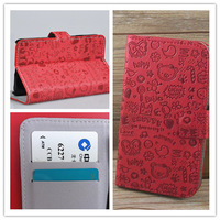 Free Shipping  Little Witch Stand Flip Leather Case MagicGirl with Holder & Credit Card Slots For Lenovo a760