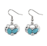 Cat's personality longevity lock retro earrings2014 new designer fashion jewelry earrings For women