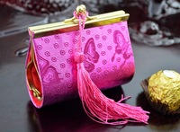 Free ship  Chinese -style wedding box , with tassel , fashion design , wallet design , candy box , hot sale