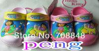 Sell Like Hot Cakes 2014  3D Design DORA  Little Girl And Big Girl  Children Sandal  size:6C7-12C13 /J1,J2,J3 Free shipping