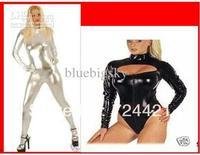 Wholesale - Metallic Lycra Spandex Sexy Suit Catsuit Halloween Party Zentai Costumes S-XXL