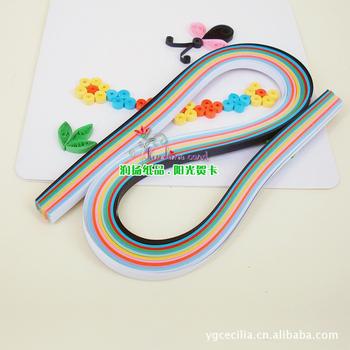 БЕСПЛАТНАЯ ДОСТАВКА!!! Специальная бумага для квиллинга шириной 3мм и длиной 52см. 12 смешанных цветов. 120 ленточек в каждой пачке.