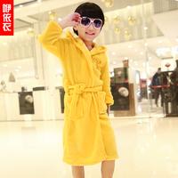 Children's clothing winter male child bathrobe coral fleece sleepwear robe child thermal sleepwear lounge
