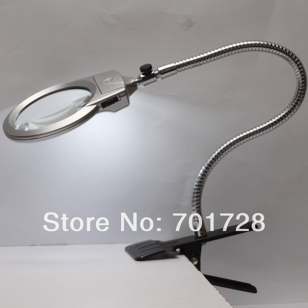 Lamp led licht vergrootglas vergrootglas bureau tafel klem 2.25x 107mm ...