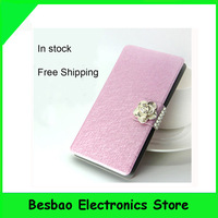 Free shipping 2014 new flip leather case cover For UMI X2 VOTO X2 MTK6589T Quad Core phone + free screen protector