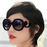 Pr design  fashion star style vintage round large sunglasses lady's sunglass  women's glasses
