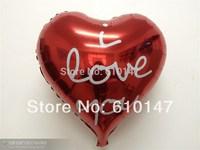 50pcs/lot 18inches foil balloon wedding decoration balloon free shipping