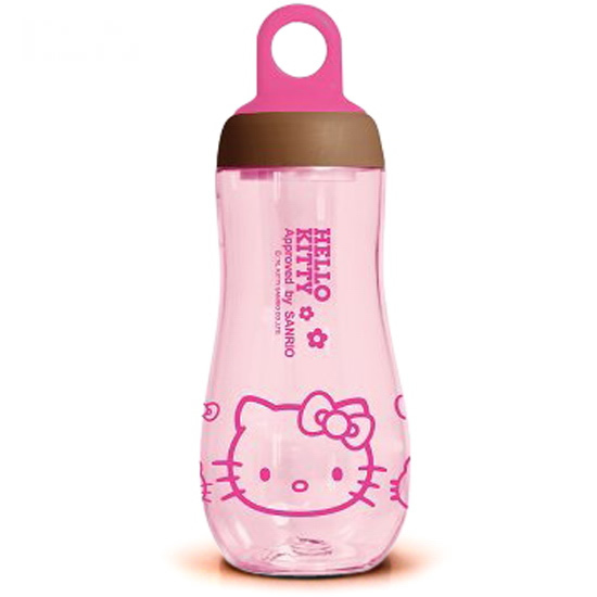 Free shipping 10 pcs/lot Wholesale Children Space Cups Plastic Water bottles Hello kitty Travel flask Cartoon water jug 300ml(China (Mainland))