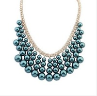 2014 fashion lady South Korea adorn article Europe and the United States ruili fashion multilayer pearl necklace The hot new