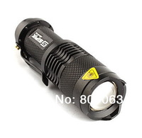 Free Shipping FX SK68 1-Mode 250LM CREE XR-E Q5 LED Flashlight LED Torch (1xAA / 1x14500)