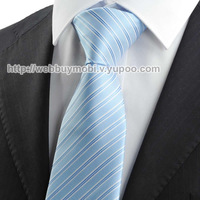 New Striped Blue JACQUARD Mens Tie Necktie Formal Wedding Party Suit Gift