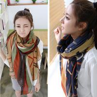 new Korea spring 2014 winter warm scarf star with money Voile shawl winter scarves cotton print girls desigual fashion summer