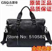 """""""Gsq"""" New arrive boutique men's   fashion genuine leather business messenger bag / briefcase handbag 39x29x8cm"""