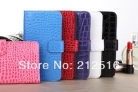High quality Crocodile leather case card holder case for samsung galaxy s5 i9600 free shipping