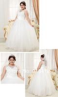 DHL Free Shipping Best Sale Large Size Wedding Dress Lace Straps Bridal Gown Big Size Lace up Bride Dress Floor Length Dress