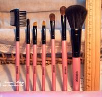 High Quality KOREA 7PCS Horse hair brush set cosmetic brush blush foundation lip eye shadow brush kit SOFT FREE SHIPPIN