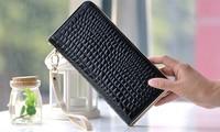 Crocodile wallet with hand  PU hand bag 3color 21*10.5*2cm