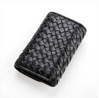 2014 genuine leather short wallet design female cowhide women's car key wallet