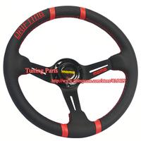 MOMO Steering Wheel 350mm Real Leather Steering Wheel Racing Car Steering Wheel