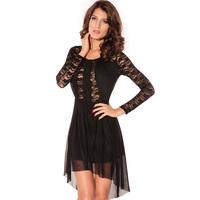 2014 New  Women's Fashion Spring Cheap Sexy mini Club Party Lace Dress HF2624 Fiesta Vestidos de Renda Femininas Free shipping