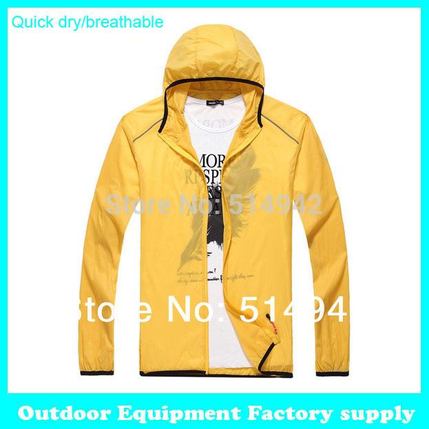 Dropshipping new Men Women Sports Camping Fishing Thin Quick Dry Jackets Light weight Waterproof Breathable summer windbreaker(China (Mainland))