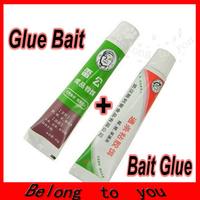 (1X Gluey Baits+1X Bait GLue) 2 Tubes of 40g Esca Viscose Fishing Lure Gluey Bait Glue Carp Tool goods for fishing accessories