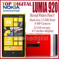 Unlocked Original Nokia Lumia 920  Windows Phone 8 Dual Core 32GB Storage 4G cell phone with One year Warranty