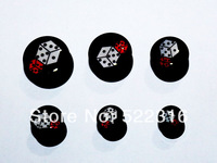 free shipping jewelry set ear plugs ear tunnel internally thread dice logo picture mix size lots fashion body jewelrys