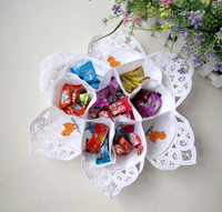 free shipping embroidery candy dish  box quality cloth plate  sugar bags festival candy tray wedding gifts  36cm cotton