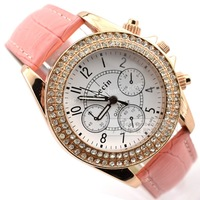 Civilities fashion double diamond strap ladies watch fashion table fashion women's watch