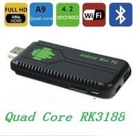 UG007B Android 4.2 RK3188 Quad Core 1080P HD TV Box Mini PC 1.6GHz 2GB RAM 8GB ROM WiFi/HDMI/ Bluetooth IPTV Receiver f Smart TV