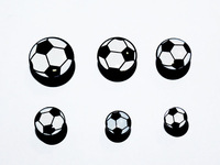 free shipping jewelry set piercing ear internally thread soccer logo picture ear plugs mix size lots fashion body jewelrys