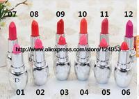 brand name  lipstick  pink purple orange  cosmetics  wholesale 12pcs/lot  top quaility