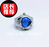 Blue classic heart quartz ring watch female jewelry