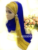 New Style 12 Pieces/Lot Cotton Modal Hot Drill Muslim Long Scarf Hijab Islamic Shaws(Only The Long Scarf)