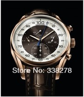 Wholesale - luxury men automatic calibre 36 watch mechanical sport dive mens watches brown leather strap