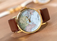 Map vintage watch - travel vintage fashion lovers table honey gift