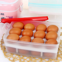 Portable double layer eggs refrigerator storage box storage box Large plastic storage food container