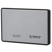 Silver ORICO 2588US3 Brand Tool Free USB 3.0 2.5 inch SATA Hard Drive External Enclosure Adapter Case Free shipping