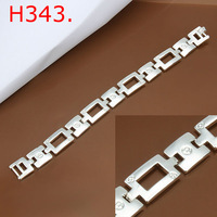 2014 Promotion price!925 Sterling Sliver Square format Bracelet men jewelry,Wholesale jewelry H343