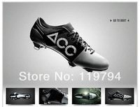 Free Shipping Best Newest White Black Men's Outdoor Soccer Shoes G-S II 8 FG Cleats All Condition Control Good Quality Cheap