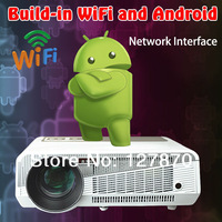 2014 world Cup Android 4.22 3D LED PROJECTOR FULL HD 1280*800 WiFi HOT 1080P Projector Home Theater Projector