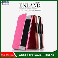 Wholesale 10pcs/lot Original Kalaideng Enland series PU Flip Leather case for Huawei Honor 3 + HK Post Free Shipping