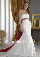 Free Shipping Wholesale or Retail Bridal Dress Floor-Length Satin Mermaid Wedding Dresses