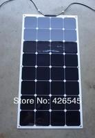 100W Sunpower flexible solar panel for 12v and 24v battery system,
